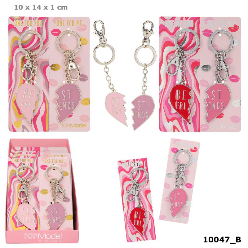 TOPModel Broken Heart 2 pcs. Keyring Set BFF