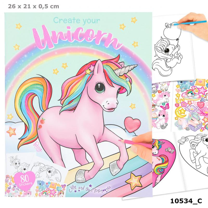 Ylvi Create your Unicorn Colouring Book