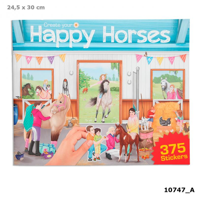 Create your Happy Horses Colouring Book