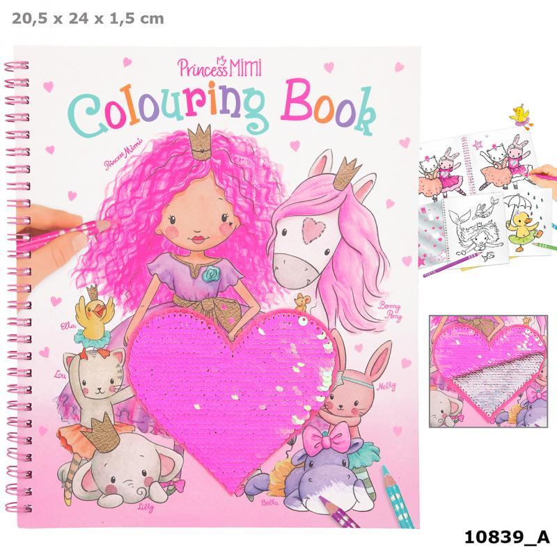 Princess Mimi Colouring Book With Sequins