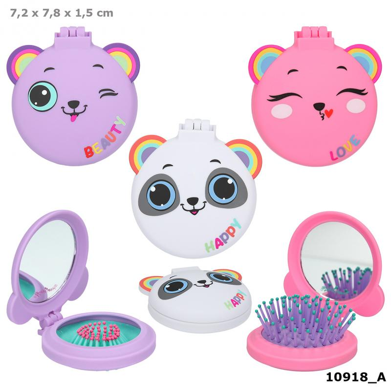 Ylvi & the Minimoomis Folding Hairbrush With Mirror