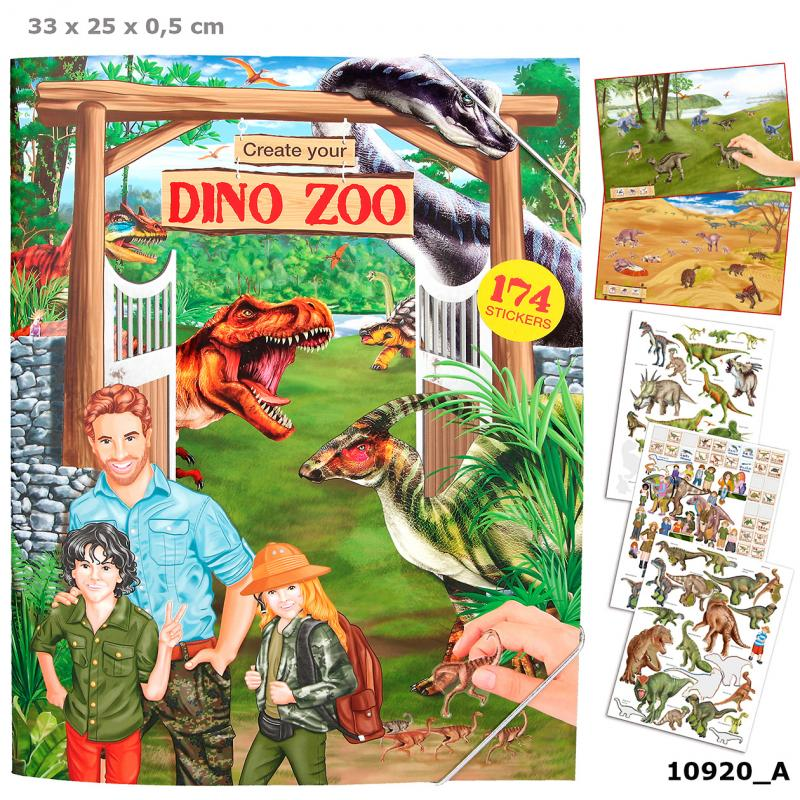 Create your DINO ZOO Colouring Book