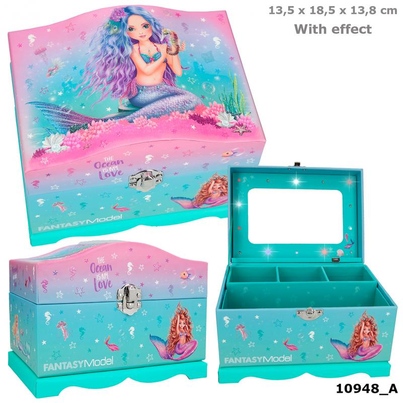 Fantasy Model Jewellery Box With Light MERMAID