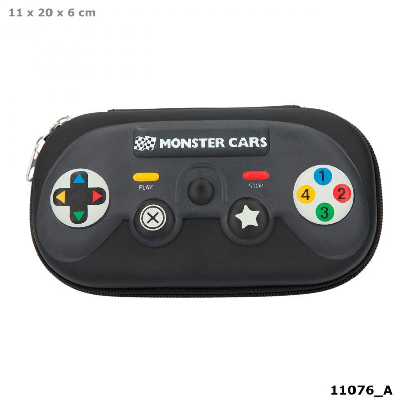 Monster Cars Trousse manette console, noir