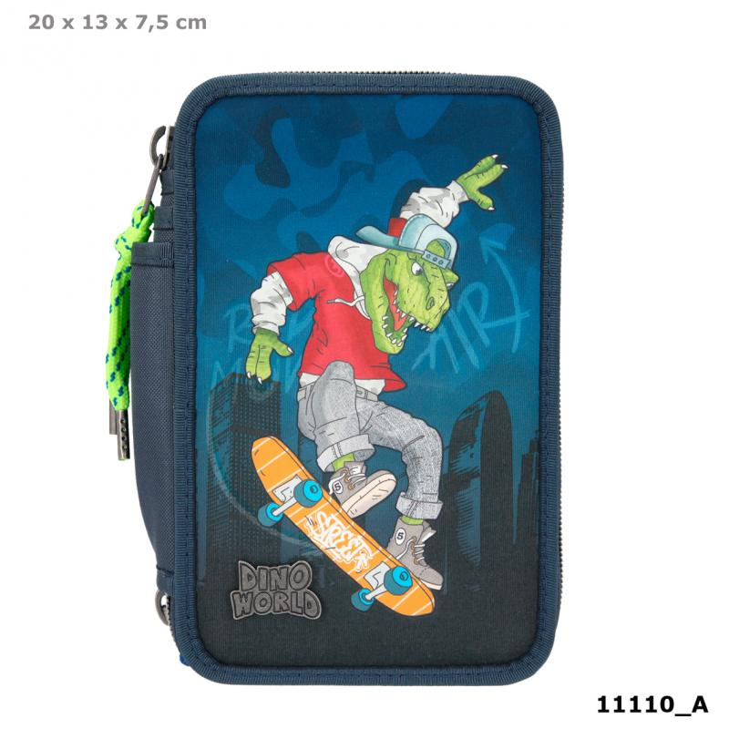 Dino World Triple Pencil Case Skater