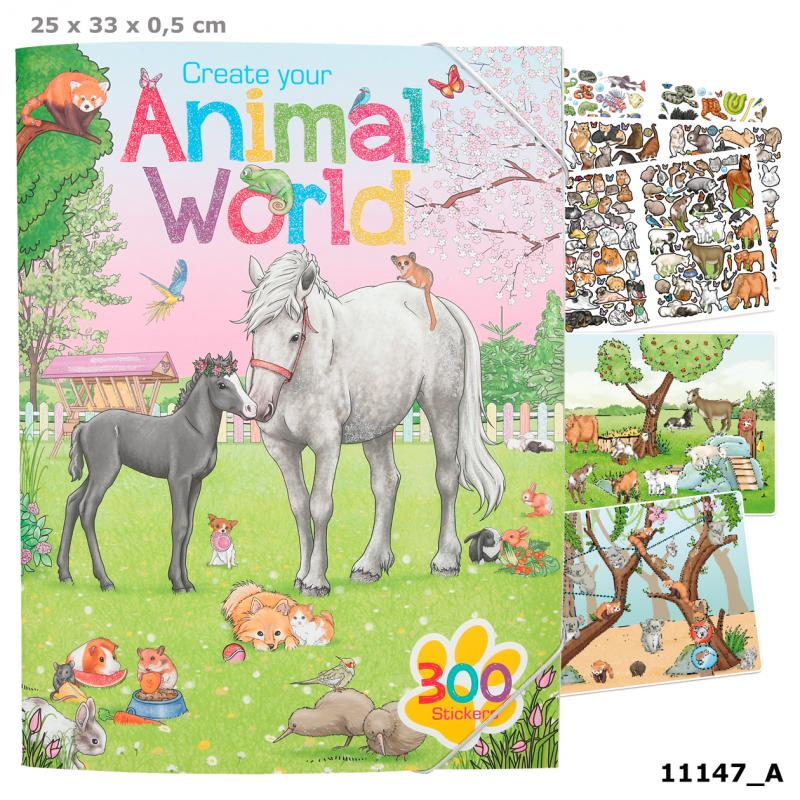 Create your Animal World Colouring Book