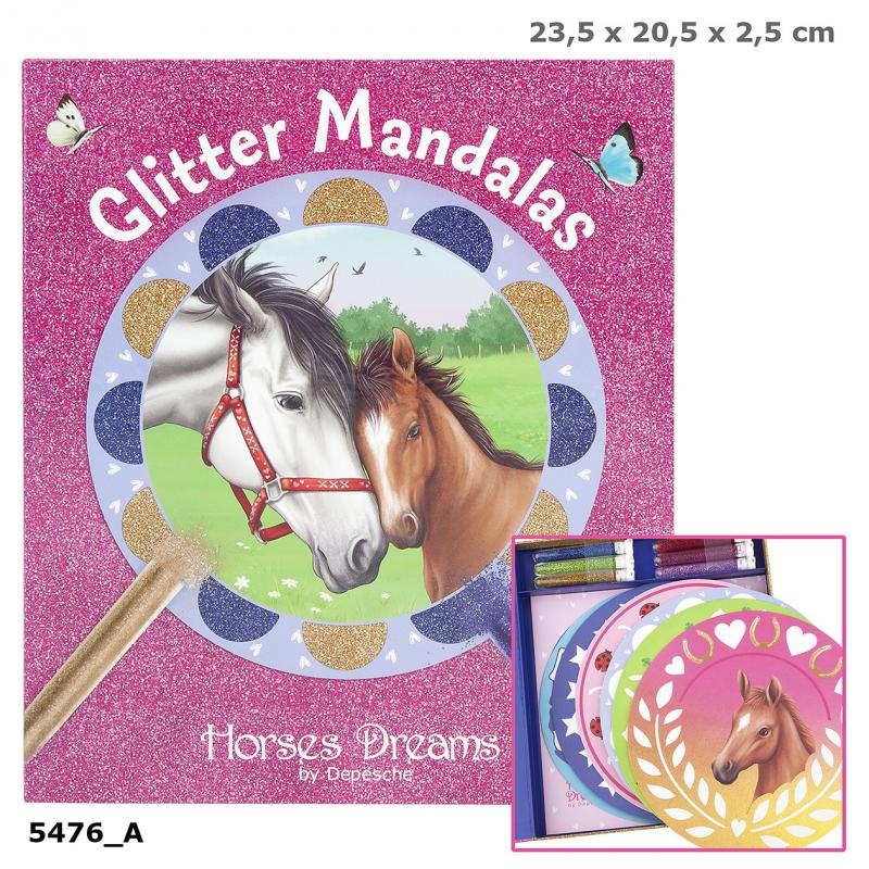 Horses Dreams Glitter Mandalas Creative Set