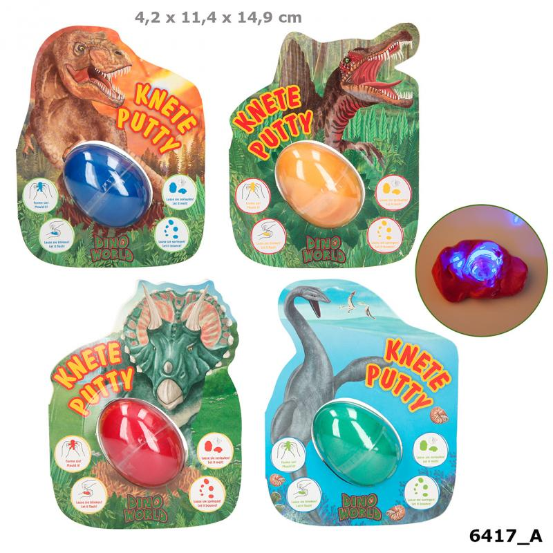 Dino World Jumping Clay With Flashlight