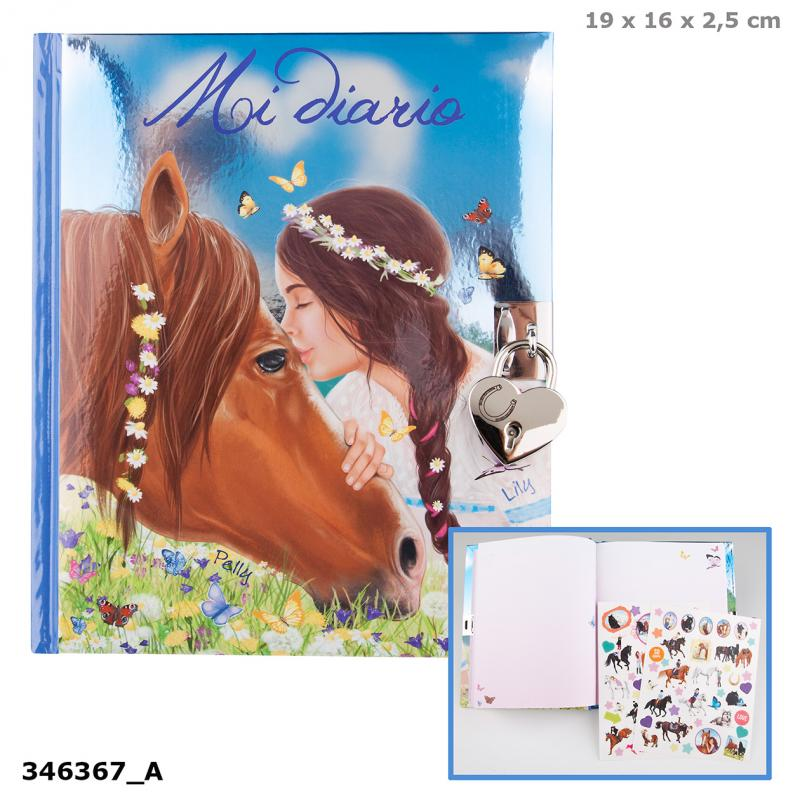 Miss Melody Diary, Motif 1, Horse And Girl, Spanish