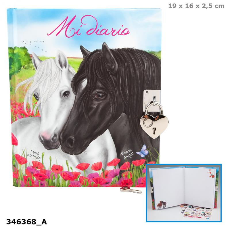 Miss Melody Diary, Motif 2, Two Horses, Spanish