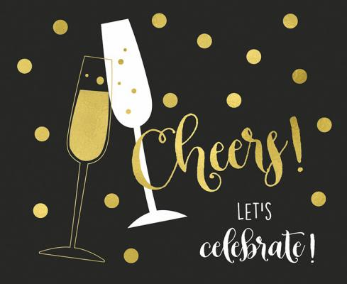 Cheers! Let's celebrate!
